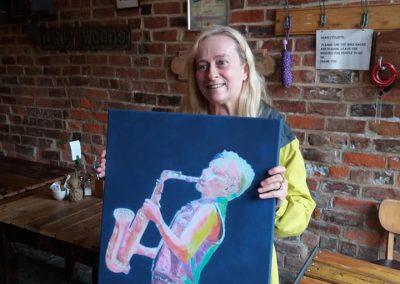 Chrissie C portrait in Live Music Lounge 2018
