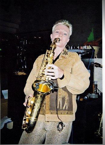 Chris on sax in japan