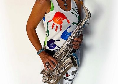 POSING WITH SAX